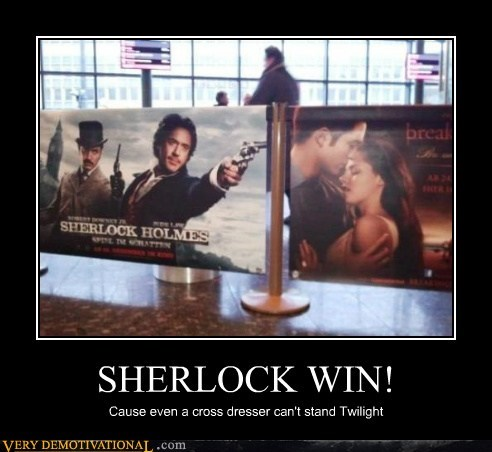 hilarious posters Sherlock twilight win - 5742693632