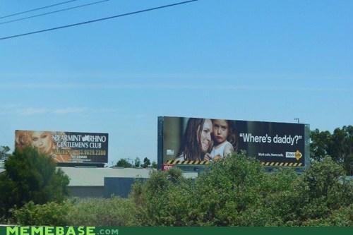 billboard daddy IRL sign - 5742733056