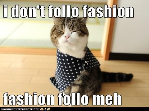 Cat - i don't follo fashion fashion follo meh CANHASCHEE2EURGER cOM