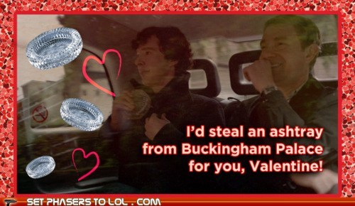 bennedict cumberbatch,buckingham palace,cards,Martin Freeman,Sherlock,sherlock bbc,sherlock holmes,Valentines day,Watson