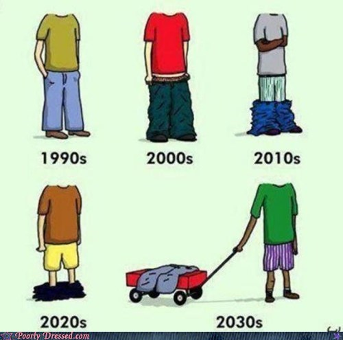 Hall of Fame pants sagging sagging in the future - 5742956032