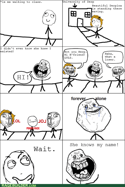 forever alone poker face Rage Comics relationships - 5743004416
