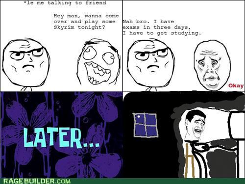 Okay,Rage Comics,Skyrim,truancy story,video games