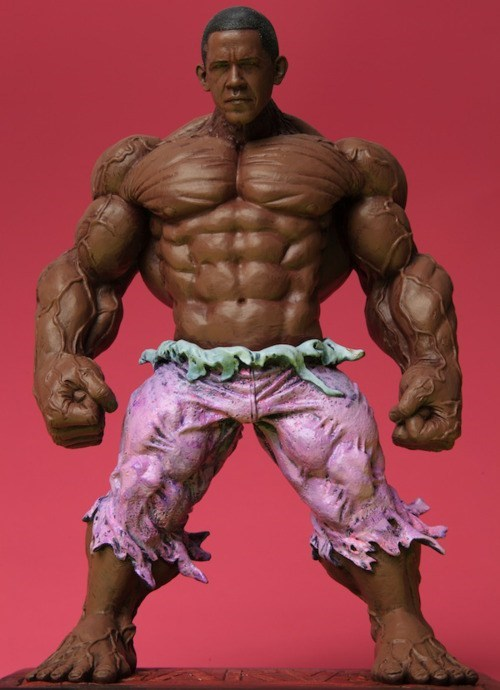 action figure Barhulk Obama Ron English - 5743214336