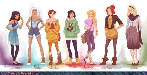 cartoons disney fashion g rated Hall of Fame hipsters poorly dressed princesses - 5743359232