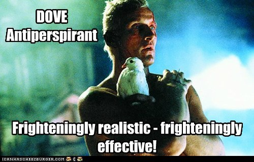 Blade Runner commercial deodorant dove effective realistic replicant roy batty rutger haur - 5743444736