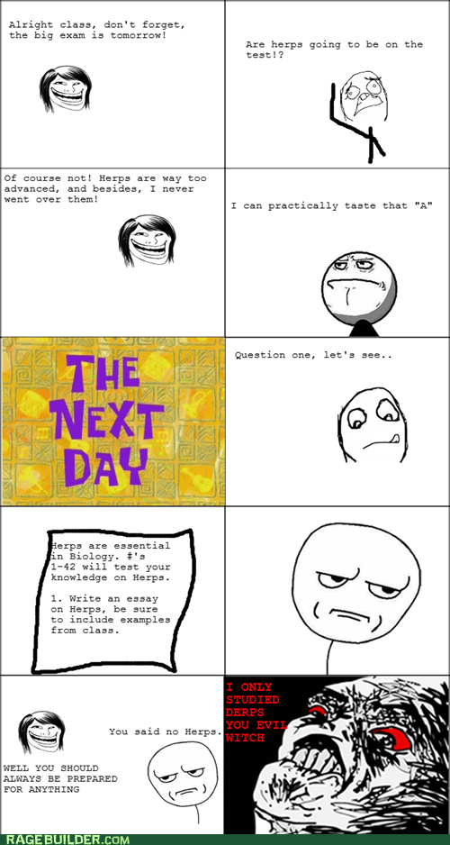are you kidding me exam Rage Comics truancy story - 5743514880