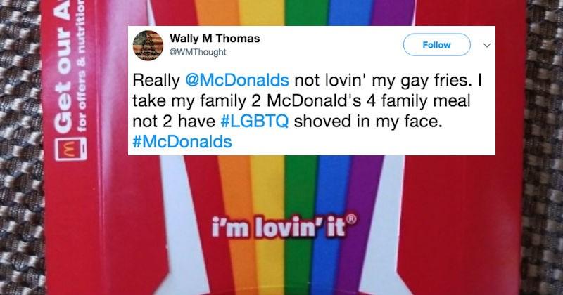 customer service moron McDonald's LGBT rights roast rude stupid - 5743877