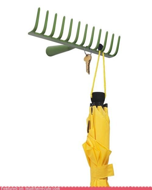hanger,hooks,rake,wall