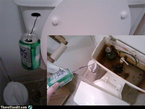 bathroom beer beer can can flush flushing rolling rock toilet - 5744498432