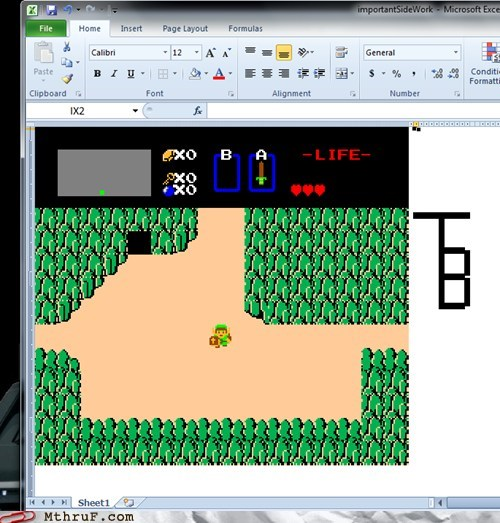 excel art,legend of zelda,winning