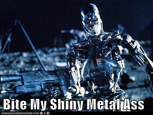 bender bite metal robot shiny skynet terminator terminator 2 - 5745023232