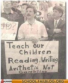 arithmetic Protest protestor sign spelling
