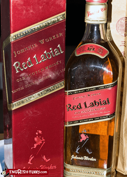 engrish funny liquor misprints red labial - 5746043648