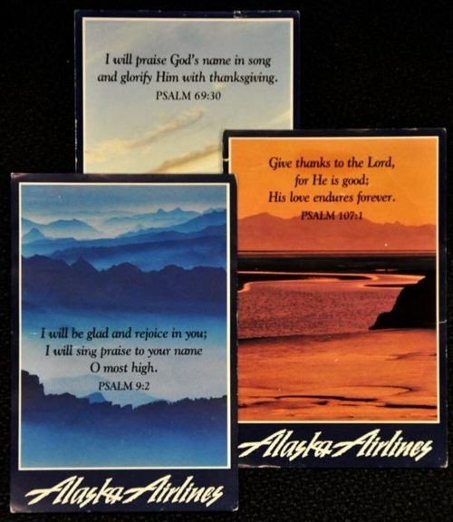 Alaska Airlines,End Of An Era,Prayer Cards