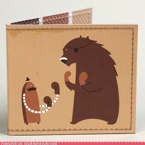 bear robot wallet - 5746665216
