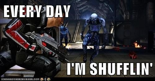 commander shepard,every-day-im-shuffling,mass effect,Party Rock Anthem
