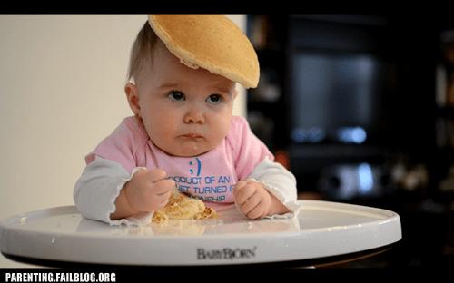 messy eater pancake head baby pancakes - 5747000064