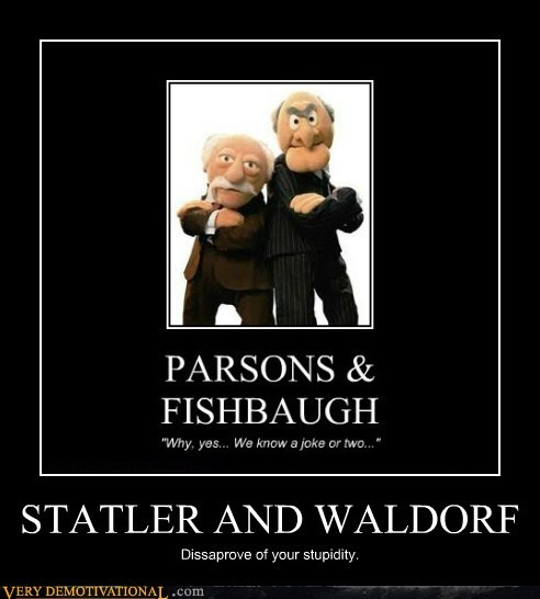 idiots muppets statler Waldorf wtf - 5747009280