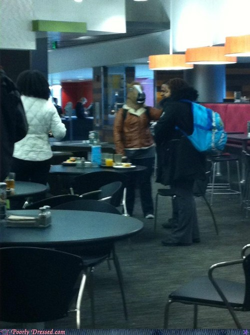 horse horse hat horses in the cafeteria