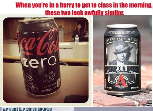 beer can class coke drunk lecture morning