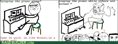genius mozart piano Rage Comics - 5747301888