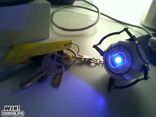 key chain nerdgasm Portal video games Wheatley - 5747313152