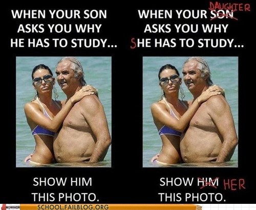 daughter,Hall of Fame,old guy,Photo,son,study,the future,trophy wife