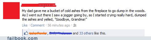 ashes,grandma,jogger,trololo