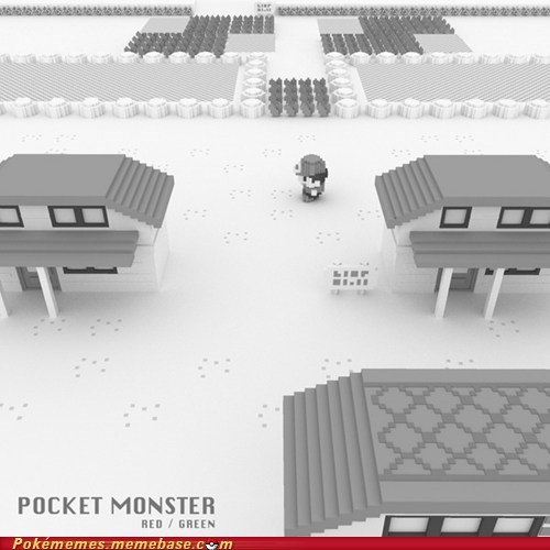 amazing art gen 1 pallet town pocket monster - 5747412480