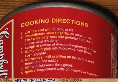 cooking directions IRL label soup - 5747428352