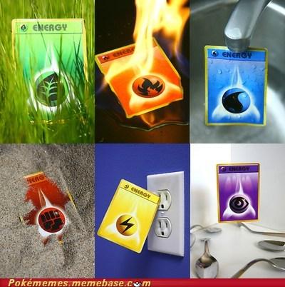 electric energy energy IRL pokemon cards TCG - 5747607808