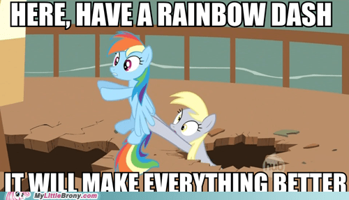 derpy hooves meme rainbow dash take this TV - 5747692032
