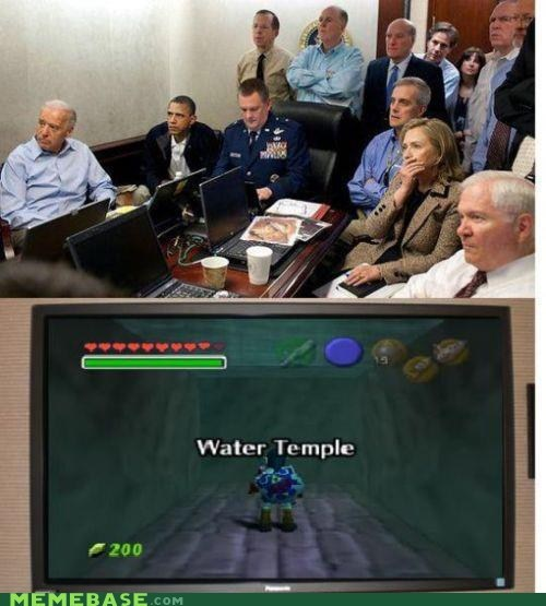 america,Memes,obama,video games,water temple,zelda