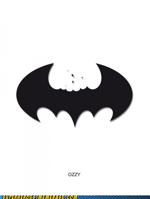Awesome Art,batman,bats,head,ozzy osborne