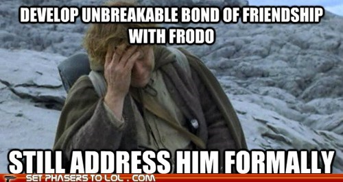 address formal frodo Lord of the Rings sam gamgee sean astin socially awkward