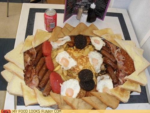 breakfast child coke fry up huge massive - 5747751936