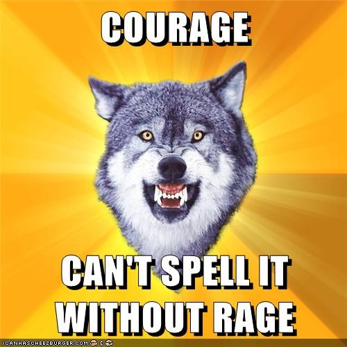 Courage Wolf rage Rage Comics spelling - 5747755776
