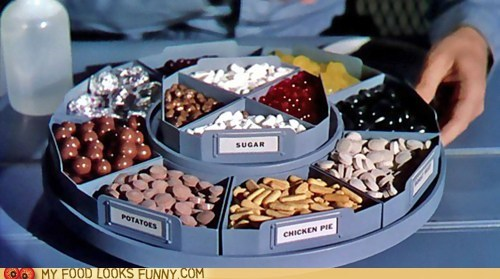 food,future,meal,pills,retro