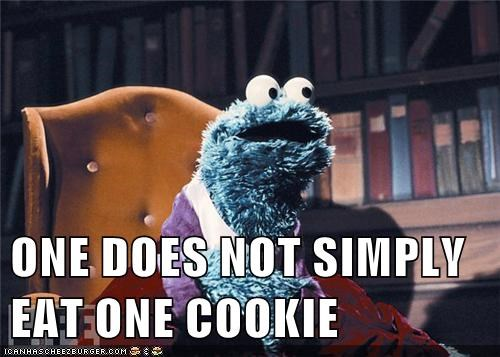 cookies,Cookie Monster,one does not simply,Sesame Street