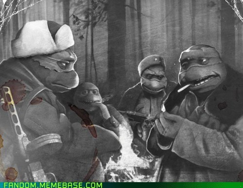 cartoons Fan Art Sad teenage mutant ninja turtles war - 5748583424