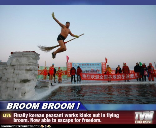 flying broom North Korea political pictures - 5748663808