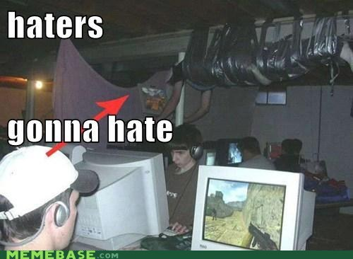 ceiling haters gonna hate tape video games what - 5748694016