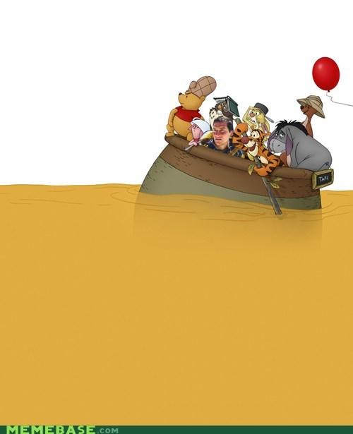 bear grylls,honey,pee,ship,winnie the pooh