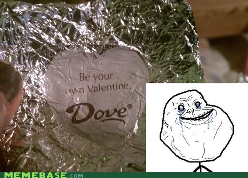 chocolate,dove,forever alone,Valentines day