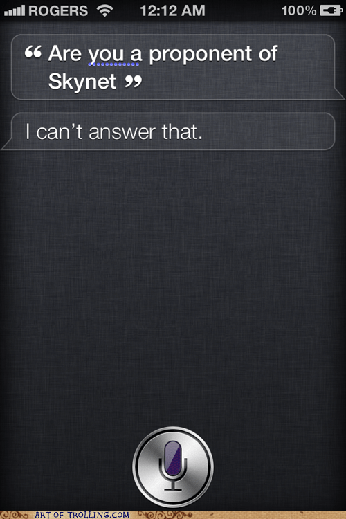 iphone no comment siri skynet - 5748950784