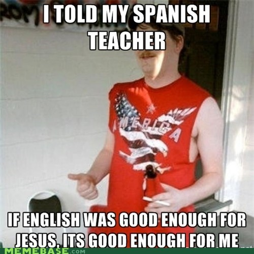 english,jesus,redneck randal,spanish