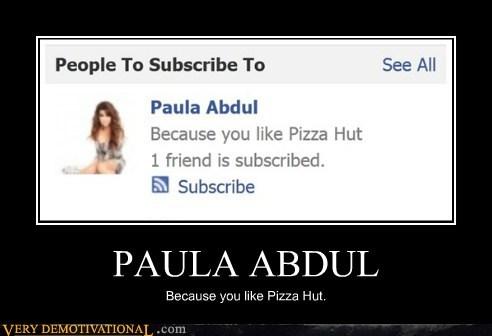 wtf pizza hut paula abdul funny - 5749460992