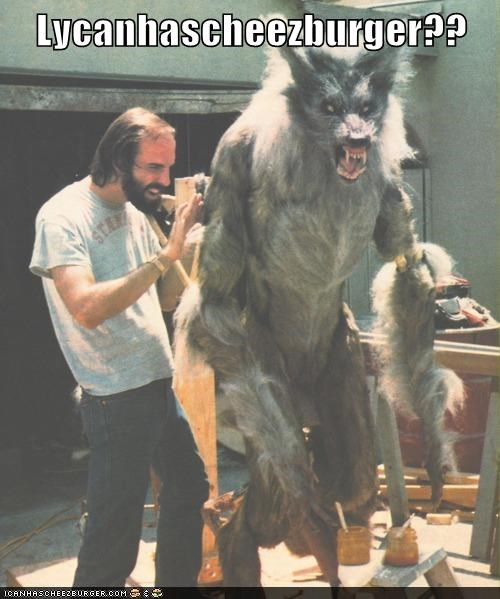 happy cat howling icanhascheezburger lycan rick baker special effects werewolf
