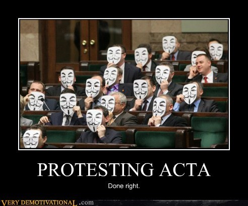 Acta government hilarious polish protesting